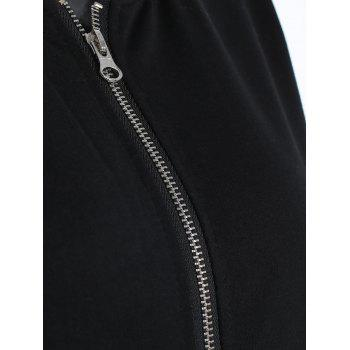 Zipper Jacket with Pockets - BLACK M