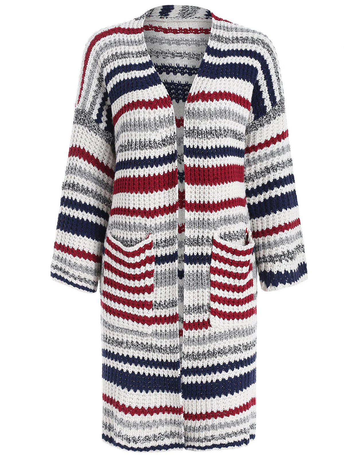 Cardigan Long Rayé - multicolor ONE SIZE