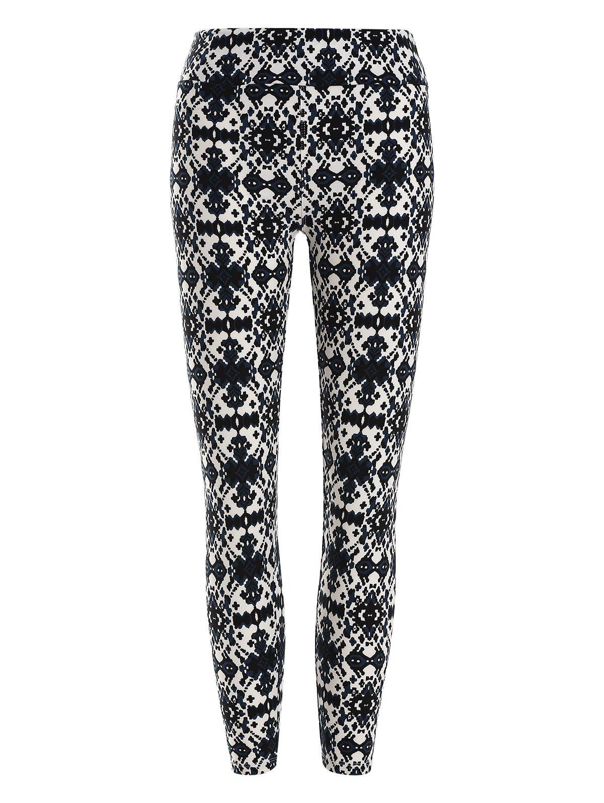Skinny Printed Leggings - multicolor ONE SIZE