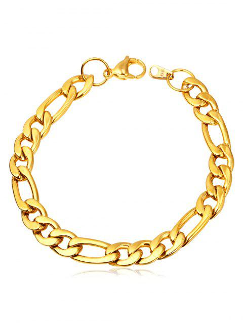 Infinity Loops Alloy Charm Bracelet - GOLD