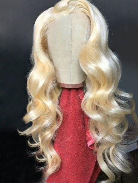 Long Side Parting Body Wave Synthetic Lace Front Party Wig - GOLD 24INCH