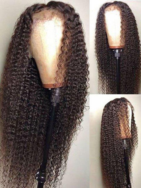 Middle Part Curly Long Synthetic Lace Front Wig - DEEP BROWN 26INCH
