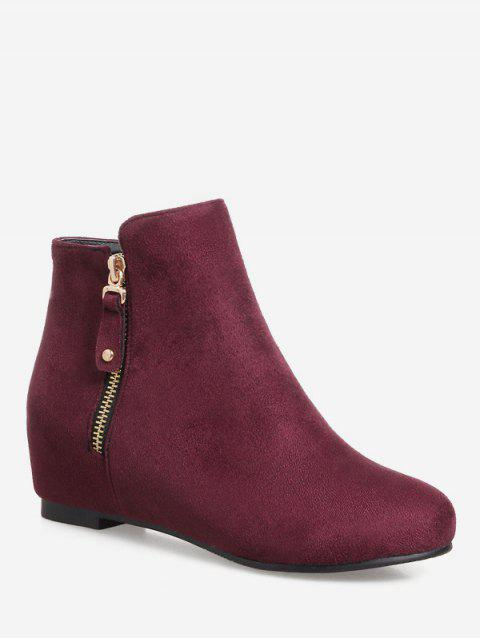 Plus Size Suede Solid Color Ankle Boots - TULIP PINK 43