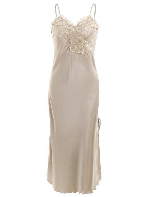Satin Slip Sleeping Dress - CHAMPAGNE GOLD L