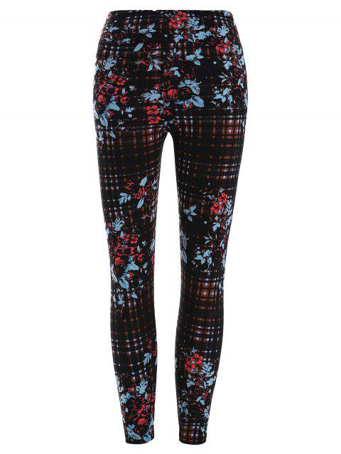 Legging Floral à Carreau Imprimé - multicolor ONE SIZE