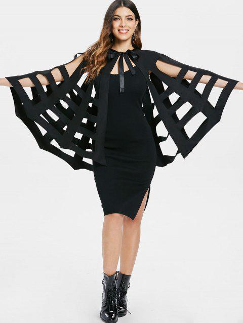 halloween costume bat wings cape black l