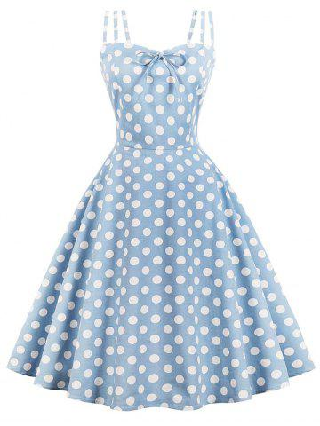Vintage Polka Dot Pin Up Dress a711e2ba88c9