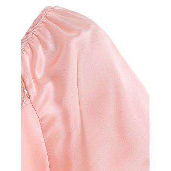 Satin Keyhole Sleeping Dress - PINK 4XL