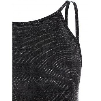 Sparkly Tank Top - BLACK S