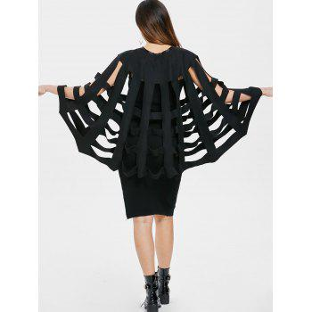 Halloween Costume Bat Wings Cape - BLACK M