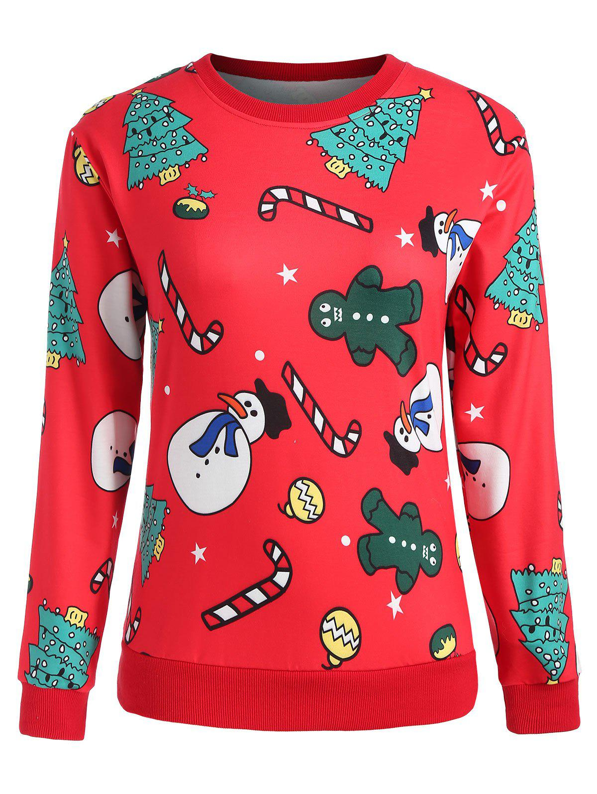 Plus Size Christmas Graphic Sweatshirt - RED 1X