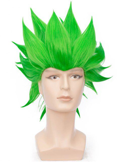 Short Straight Anime Party Synthetic Cosplay Wig - EMERALD GREEN