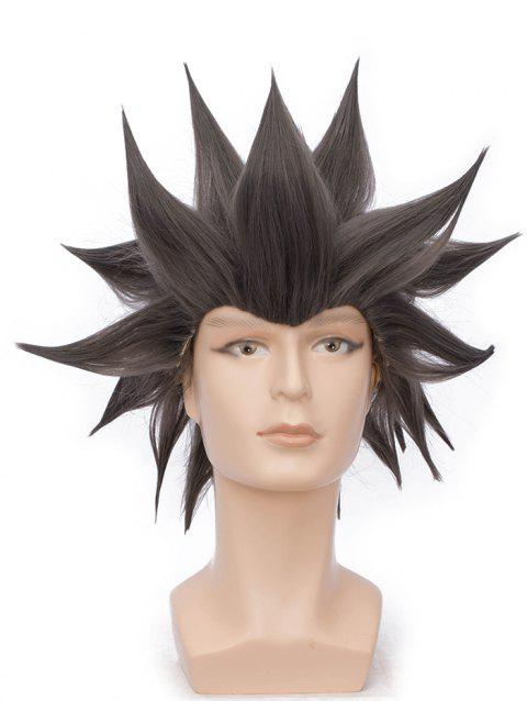 Short Straight Anime Party Synthetic Cosplay Wig - DARK GRAY