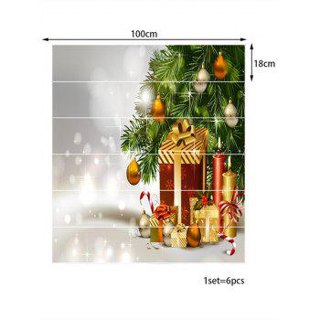 Christmas Tree with Gifts Print Removable Stair Stickers - multicolor 6PCS X 39 X 7 INCH( NO FRAME )