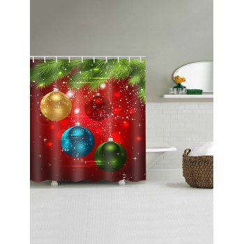 Coloful Christmas Ball Pattern Shower Curtain - multicolor W59 X L71 INCH