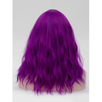 Long Center Parting Natural Wavy Party Anime Synthetic Wig - PURPLE IRIS