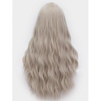 Middle Part Long Natural Wavy Synthetic Anime Cosplay Wig - PLATINUM