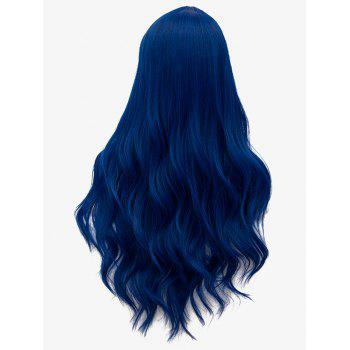 Long Middle Part Wavy Cosplay Party Synthetic Wig - ROYAL BLUE