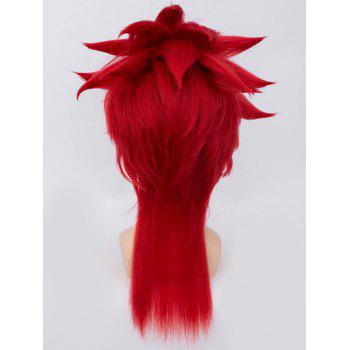 Long Tail Upwards Straight Anime Cosplay Synthetic Wig - CHESTNUT RED