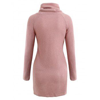 Short Turtleneck Sweater - PIG PINK M