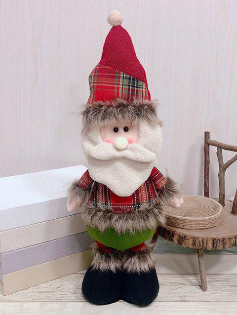 Christmas Theme Santa Claus Shaped Stretchable Decoration Doll - RED
