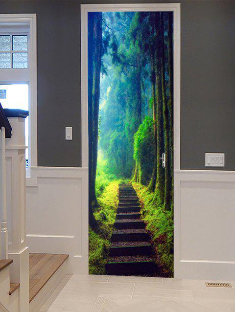 Forest Path Pattern Door Stickers - multicolor 2PCS X 15 X 79 INCH