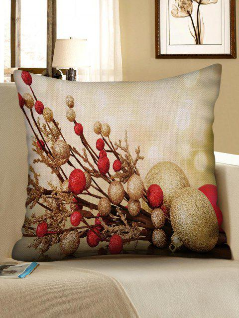 Christmas Ball Pattern Decorcative Linen Pillowcase - multicolor W18 X L18 INCH