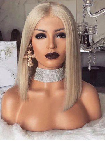 dresslily Medium Party Center Parting Straight Synthetic Wig