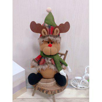 Christmas Theme Elk Shaped Decor Doll - RED