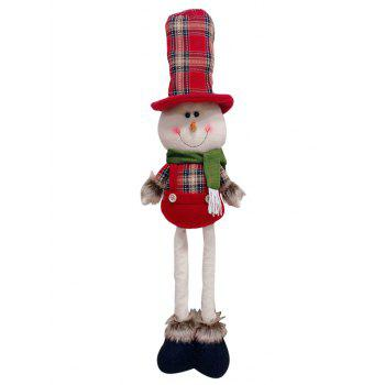 Christmas Theme Snowman Shaped Stretchable Decor Doll - RED
