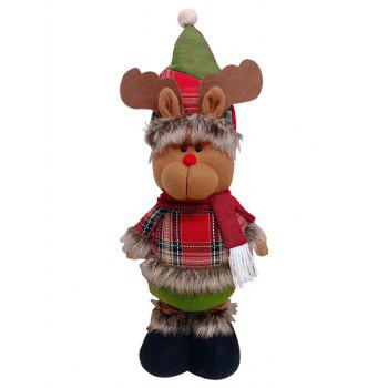 Christmas Theme Deer Shaped Stretchable Decoration Doll - RED