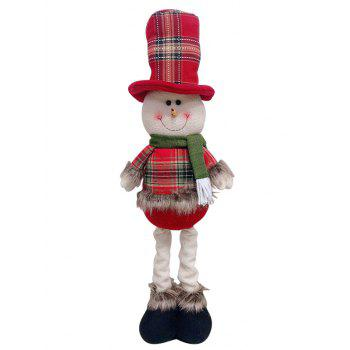 Christmas Theme Snowman Shape Stretchable Decoration Doll - RED