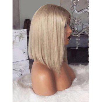 Medium Party Center Parting Straight Synthetic Wig - CRYSTAL CREAM