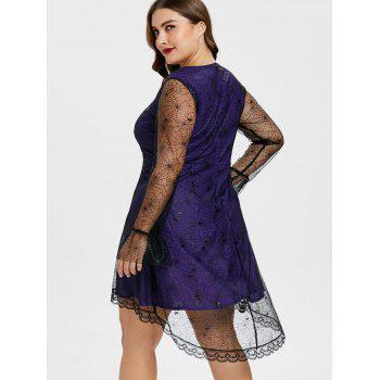 Plus Size Empire Waist Halloween Dress - PURPLE IRIS L