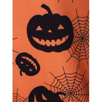 Mini-Robe d'Halloween Citrouille Filet de Grande Taille - Orange L
