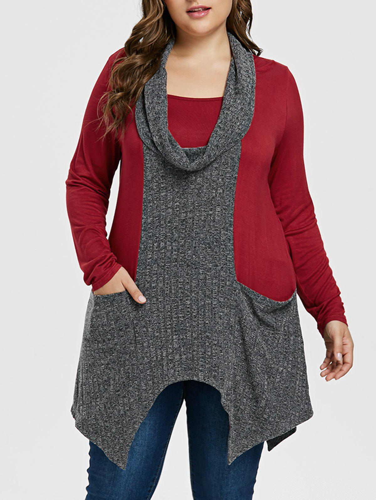 Plus Size Two Tone H
