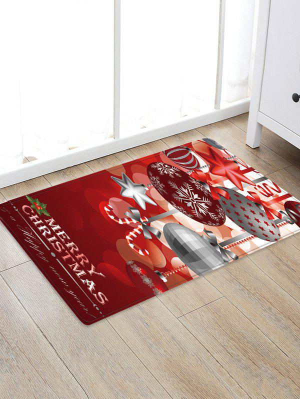 Christmas Hanging Balls Pattern Anti-skid Flannel Area Rug фото
