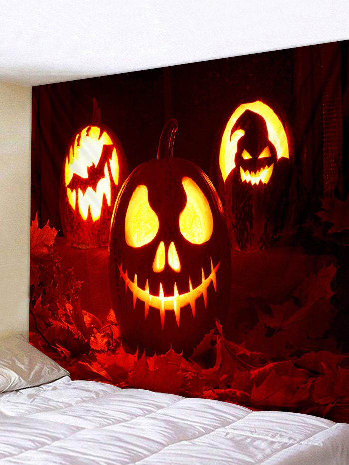 Art mural tapisserie d'Halloween - Rouge W59 X L59 INCH