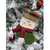 Christmas Theme Snowman Pattern Hanging Stocking Decoration - CYAN OPAQUE