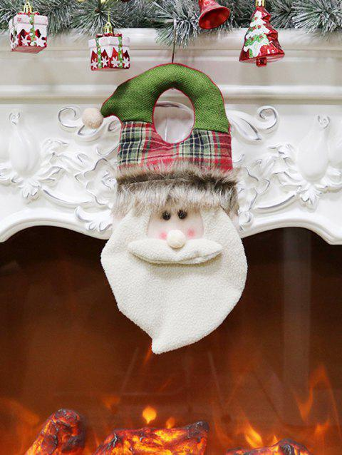 Santa Claus Doll Hanging Christmas Fireplace Decor - WHITE