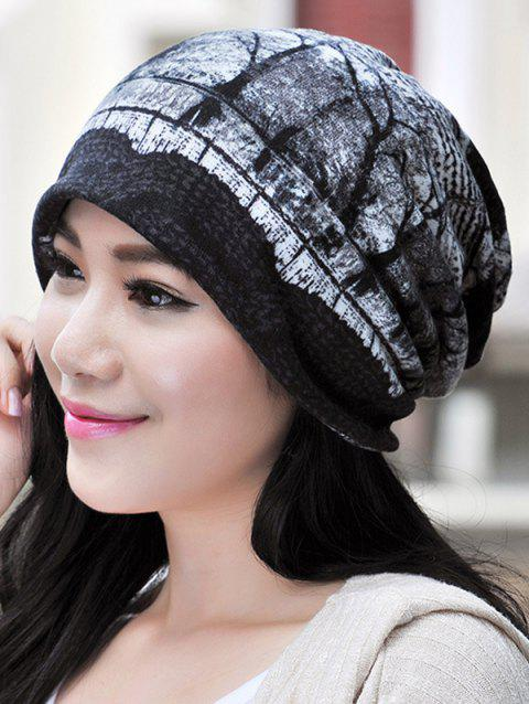Multifunction Jacquard Pattern Outdoor Beanie Hat - GRAY