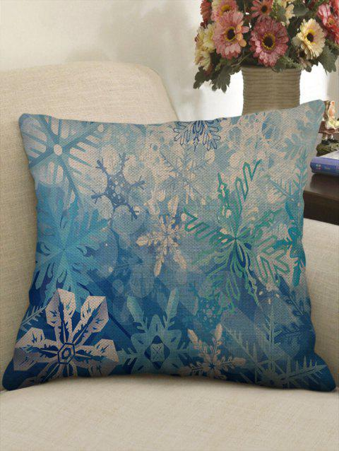 Christmas Snowflake Pattern Sofa Linen Pillowcase - multicolor