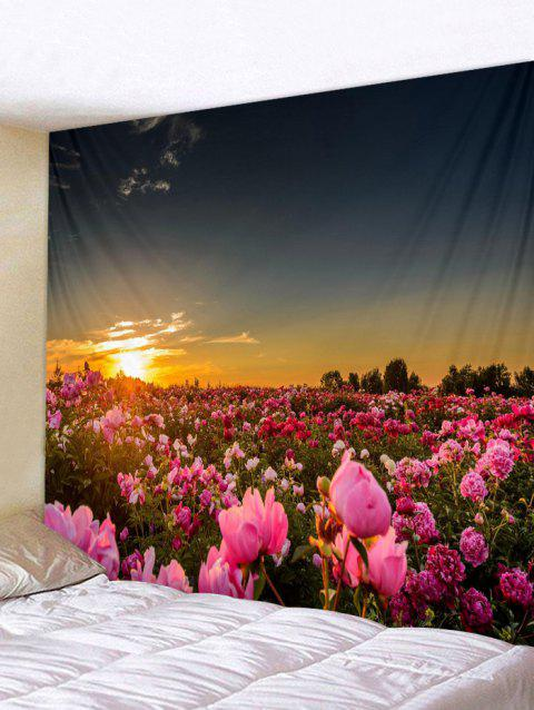 Flower field sunset Mountain Sunset Flower Field Print Tapestry Wall Art Multicolor W79 L59 Inch Dresslilycom 2019 Sunset Flower Field Print Tapestry Wall Art In Multicolor W79