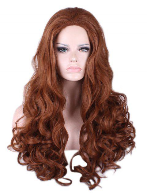 Carnival Party Cosplay Long Loose Wave Synthetic Wig - BROWN