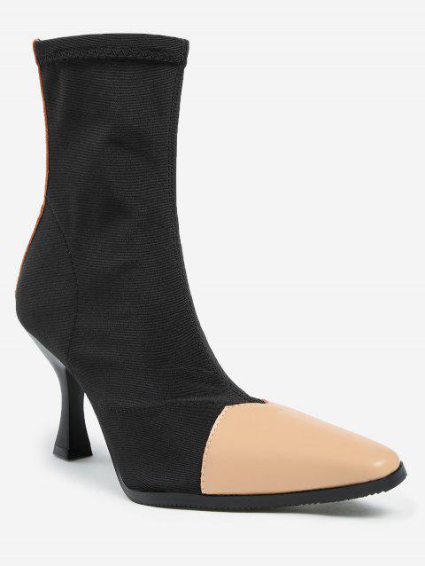 Strange Heel Pointed Toe Ankle Boots - APRICOT 37