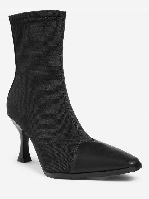 Strange Heel Pointed Toe Ankle Boots - BLACK 36