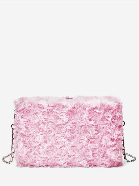 2019 Solid Color Faux Fur Chain Crossbody Bag In LIGHT PINK ... 9683c2d0bcc9e