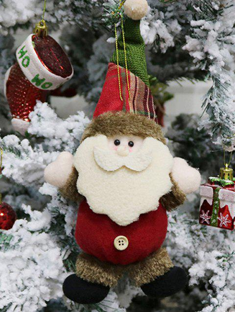 Christmas Theme Santa Claus Hanging Decoration Gift Doll - LAVA RED