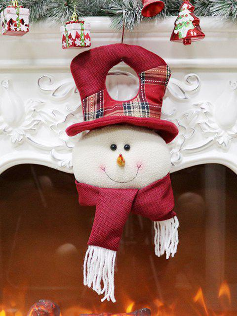 Snowman Doll Hanging Christmas Fireplace Decor - RED