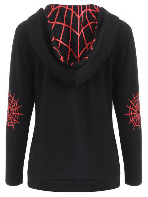 Sweat à capuche Halloween Spider Web - Noir L